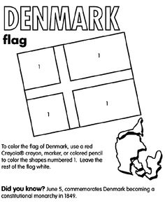 Flags Of 4 Nations For This Weeks Geography Memory Work Denmark Coloring Page