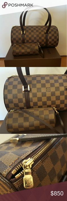 100% AUTHENTIC Damier Papillon Leather is in perfect condition. Sign of wear on the zipper head. This model seems to be discontinued. Comes with a cute mini version. Louis Vuitton Bags Shoulder Bags