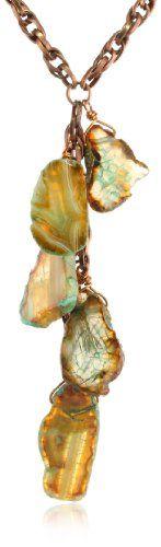 Devon Leigh Green Agate and Bronze Br... $231.65 #bestseller