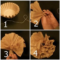 Coffee filter garland how to