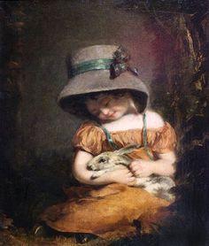 Girl with a Rabbit, 1800, by John Hoppner (English, 1758-1810)
