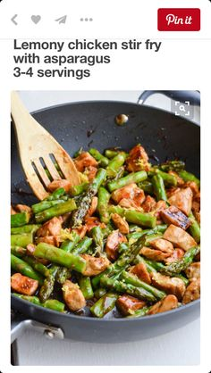 Leaking asparagus chicken
