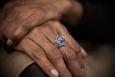 Greek Lion - Sterling silver ring. $250.00, via Etsy.