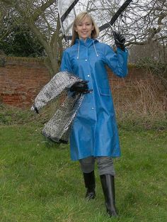 Raincoats For Women April Showers Code: 9064167658 Vinyl Raincoat, Pvc Raincoat, Plastic Raincoat, Hooded Raincoat, Raincoats For Women, Jackets For Women, Mackintosh Raincoat, Nylons, Outfit
