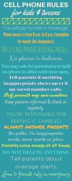 Safe cell phone rules for kids, tweens, and teens. {pacific kid}