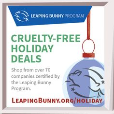 12 days of cruelty-free shopping = 70+ deals, freebies & contests from Leaping Bunny certified brands. #BeCrueltyFree http://leapingbunny.org/holiday