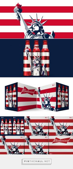 Budweiser Liberty   PlayMagazine by Jones Knowles Ritchie curated by Packaging Diva PD. Budweiser's new patriotic holiday packaging look.