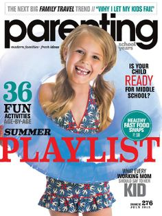Parenting School Years - magazine available through KCKPL Zinio digital magazine account.
