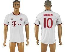 Bayern Munchen #10 Robben White Soccer Club Jersey
