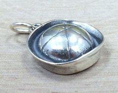 Sailor Cap Charm, Sailor Cap Pendant, Sailor Charm, Navy Charm, Navy Pendant, Sterling Silver Charm, Sterling Silver Pendant, PS0636