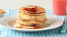 Make delicious homemade pancakes in under 30 minutes with this simple recipe. Our recipe for classic pancakes made from scratch is the perfect weekend breakfast. Quick Pancake Recipe, Pancakes Recipe Video, Healthy Recipe Videos, Bbc Good Food Recipes, Healthy Dinner Recipes, Delicious Recipes, Vegetarian Recipes, Homemade Pancakes, Pancakes Easy