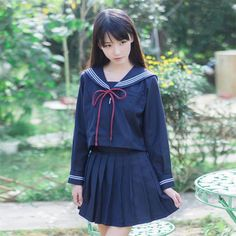 - Темно-Стиль моряк форма Японии Корейская шк… Navy Style Sailor Uniform Japan Korean School Uniform for Girls Students Costumes Sailor School Uniform - School Girl Japan, Japan Girl, Cute School Uniforms, School Uniform Girls, Girls Uniforms, Cute Asian Girls, Cute Girls, Student Costume, Japanese School Uniform