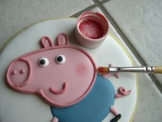 """Biscotti Peppa Pig """"George"""" Peppa Pug, Peppa Pig Birthday Cake, View Source, Cookie Bars, Cake Pops, Brownies, Goodies, Sweets, Deep"""