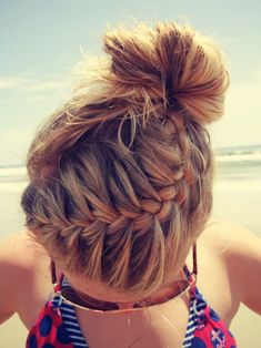 Easy braid and bun