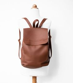 Leather Backpack in Sienna Brown  by morelle