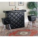Acme Furniture - Hali 3 Piece Bar Table Set in Black - 70965-3SET