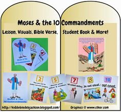 We are discussing the 10 commandments today. I have created a set of teacher's visuals and a student workbook that can be used with the. Bible Study For Kids, Bible Lessons For Kids, Sunday School Lessons, Sunday School Crafts, School Songs, Bible Story Crafts, Bible Stories, Bible Activities, Preschool Bible