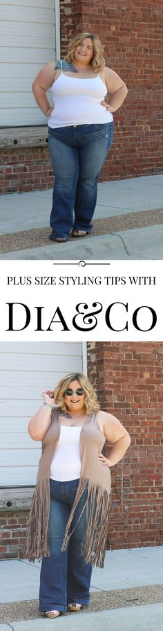 Get great plus size styling tips from the experts at dia&co at Fatgirlflow.com