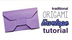You can learn how to make simple origami envelope from envelope origami tutorials. It looks like an envelope where you place greeting cards in. Step 1 – You will need: Origami peppers Glue, if you have a plan to put some objects in. Origami Ball, Instruções Origami, Cute Origami, Origami And Kirigami, Origami Heart, Simple Origami, Origami Folding, Oragami, Tutorial Envelope