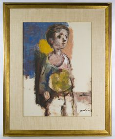Lot Jose Montanes (Spanish, Gouache on Paper; Undated, signed lower right, depicting a young boy Young Boys, Gouache, Catalog, Spanish, September, Auction, Paper, Painting, Art