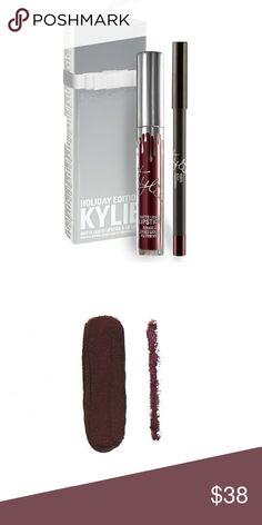 Kylie Cosmetics lipkit Vixen ?Brand new, never swatched Vixen is a blackened vampy plum Kylie Cosmetics Makeup Lipstick