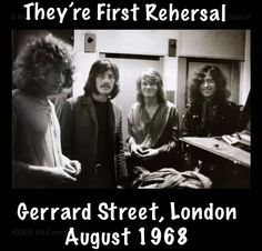 Led's first rehearsal.