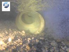 HYDROCONNECT Drehrohr-Doppelwasserkraftschnecke - Fish Pass / Fish Lift