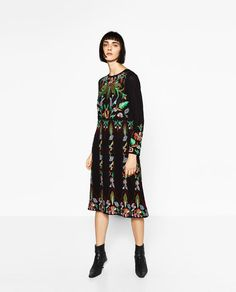 Image 1 of LIMITED EDITION FLORAL EMBROIDERED DRESS from Zara