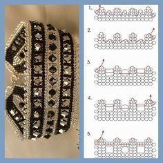 Embellishing netting beading techniques from fusion beads seed bead tutorials by – Artofit Seed Bead Tutorials, Seed Bead Projects, Seed Bead Patterns, Weaving Patterns, Beading Tutorials, Doily Patterns, Dress Patterns, Bracelet Crochet, Beaded Braclets