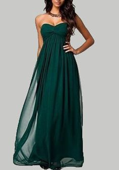 Green Grenadine Off Shoulder Backless Ruched Flowy Bridesmaid For Wedding Party Maxi Dress
