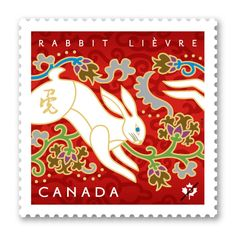 Canada Post 2011 stamp celebrates the Year of the Rabbit.