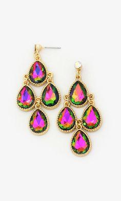 Kimmie Chandelier Earrings in Vitrail Crystal