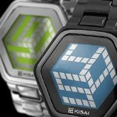 LCD Watch Design with Mirror Display, Time, Date and Backlight : 3D Unlimited
