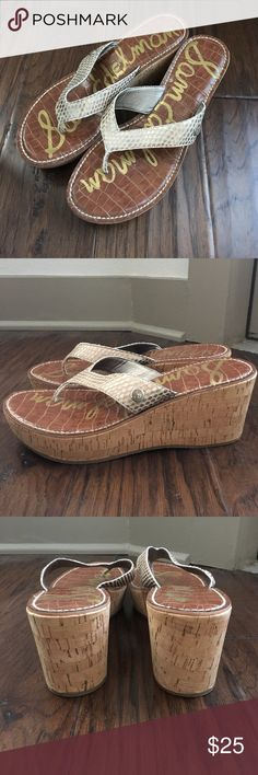 Sam Edelman Romy wedges Worn once in excellent condition! Sam Edelman Shoes Wedges