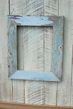 This Old House11x14 Pine Rustic picture frame. $50.00, via Etsy.