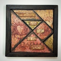 altered wooden puzzle, tangram, altered tangram