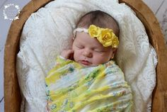 Ruffle Stretch Knit Wrap in Yellow Floral | Beautiful Photo Props