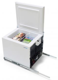 Shoreline under counter fridge freezer (separate doors). An excellent solution for extended cruising on your boat Under Counter Fridge Freezers, Chest Freezer, Shipping Container Homes, Hygge, Storage Chest, Boats, Cottage, Future, Future Tense