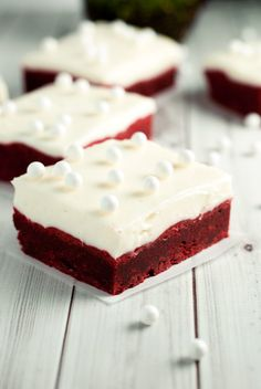 These red velvet cookie bars? Yeah, they're kind of awesome. So why not make a batch today and share them. Or don't. No one will know, they're just delish!