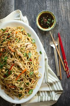 Asian Chicken Pasta Salad - Foodness Gracious