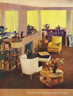 McCalls, 1939. Domestic Goddess, Next Door, Retro Home, Living Room, Interior Design, 1930s, House, Furniture, Vintage
