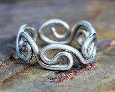 Silver Grecian Toe Ring