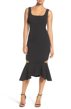 Bardot 'Eve' Cutout Fishtail Midi Dress available at #Nordstrom