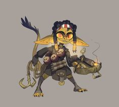 """""""The goblin thief for a monster heist game concept"""" Fantasy Character Design, Character Design Inspiration, Character Concept, Character Art, Concept Art, Game Concept, Dnd Characters, Fantasy Characters, Pathfinder Character"""