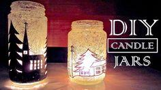DIY Navidad Decoraciones | Cómo hacer Tarros Porta velas Reciclaje antiguas