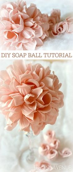 Crafts - Soap Ball Tutorial at the36thavenue.com You can make them in less that FIVE MINUTES! Pin it NOW and make them LATER!