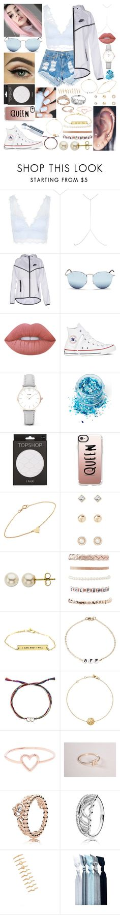 """""""I'm stronger than yesterday"""" by xo-arissa-xo ❤ liked on Polyvore featuring Topshop, River Island, NIKE, Ray-Ban, Lime Crime, Converse, CLUSE, In Your Dreams, Casetify and Jennifer Meyer Jewelry"""