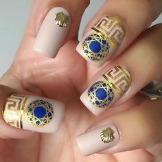 "Elsa 🇬🇧 on Instagram: ""Hello everybody 🙋🏻♀️. Here's my design with September's @meeboxuk box. 💅🏼🤩💖💛🧡💙. #meeboxchallenge"" Nails Inc, Aphrodite, My Design, Elsa, September, Box, Rings, Instagram, Beautiful"