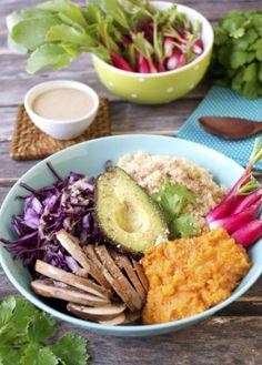 Assiette complète végétale et sans gluten vegan