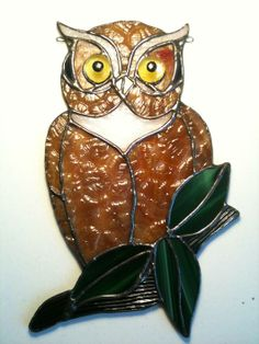 Owl Suncatcher - Delphi Stained Glass